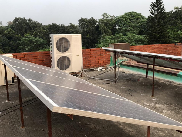 Cassette type ACDC On Grid Solar Air Conditioner Installed in Bangladesh