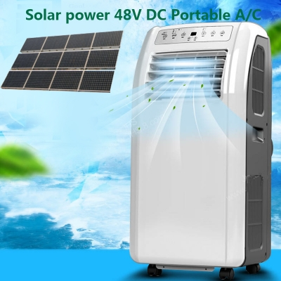 9000BTU 12000BTU DC 48V Affordable Off Grid Solar Portable Air Conditioner