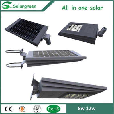 New Multi function 8W 12W solar garden light installed on Wall or Pole